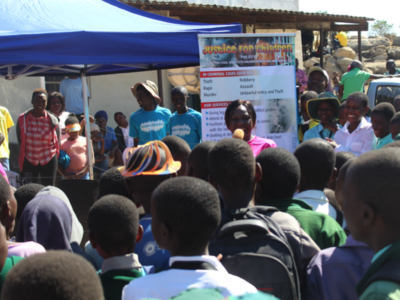 JCT Legal Officer raising awareness on child rights and responsibilities