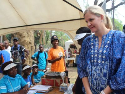 Kirsty Coventry the Minister of Youth, Sport, Arts and Recreation